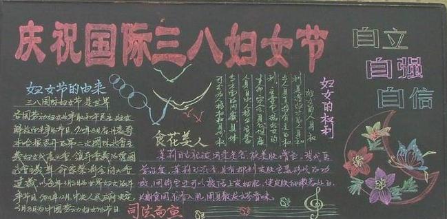 2019年高三妇女节黑板报内容资料