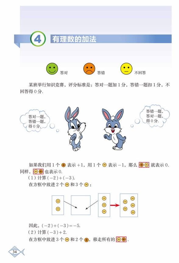 深圳七年级数学上册有理数的加法