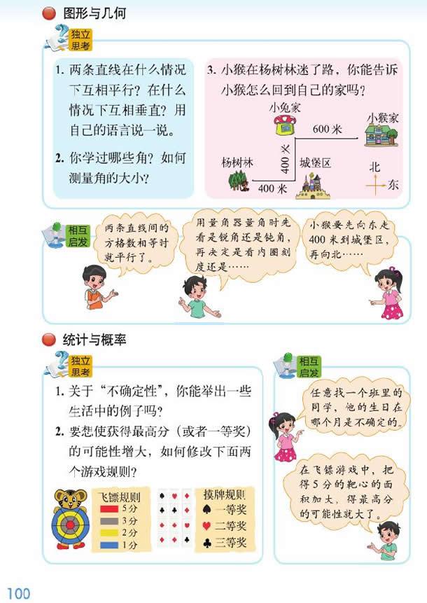 深圳四年级上册数学图形与几何