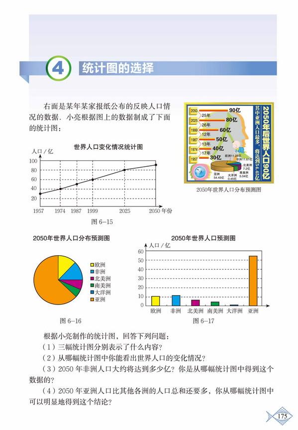 深圳七年级数学上册统计图的选择