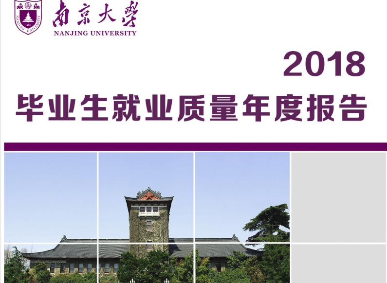 2018年南京大学就业报告