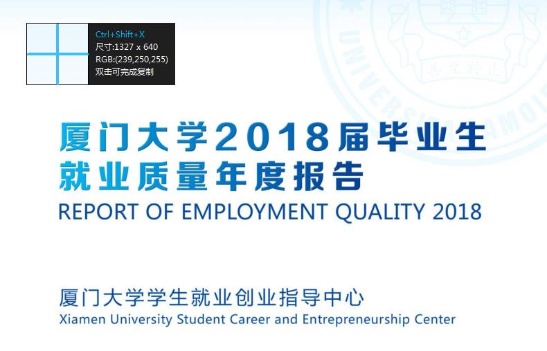 2018年厦门大学就业报告