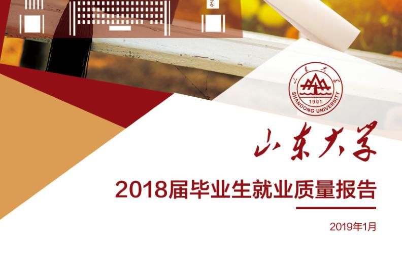 2018年山东大学就业报告