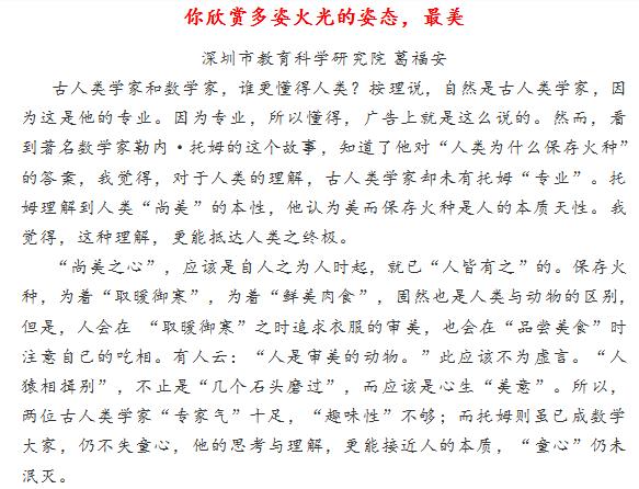 2019年深圳高三二模作文范文
