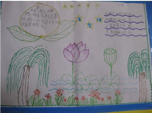 小学四年级关于夏天手抄报
