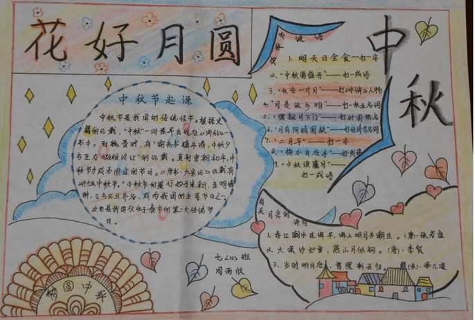 2019年中秋节手抄报图片大全简单五年级