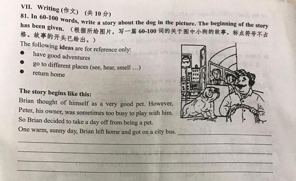 上海市杨浦区2018年初三上学期英语期中考试试题第7页