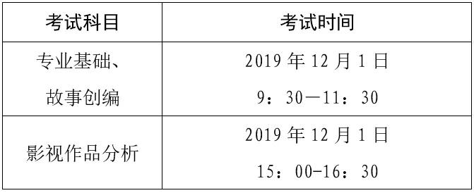 2020年广东省普通高考广播电视编导术科统一考试时间安排公布