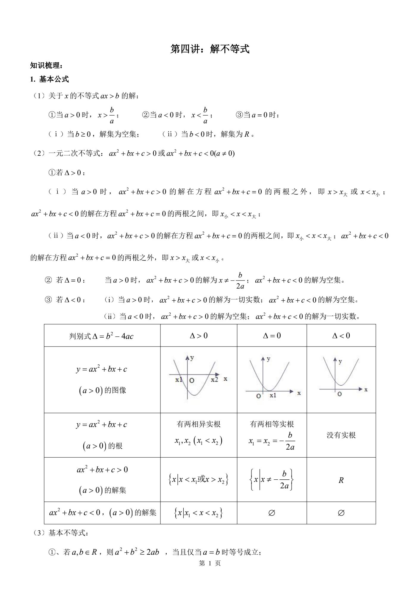 解不等式1