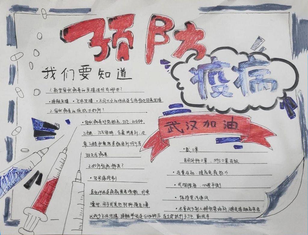 武汉疫情手抄报中学生