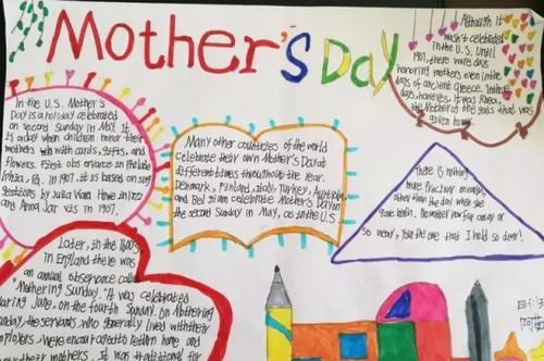 2020年母亲节英语手抄报大全三年级2张