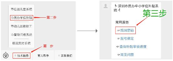 2020年深圳市民办中小学学位补贴申报系统密码重置攻略