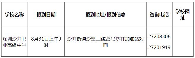 深圳沙井职业高级中学2020年高一新生报名时间