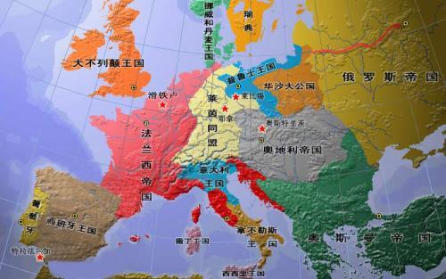 拿破仑帝国地图