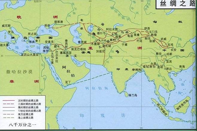 丝绸之路历史地图