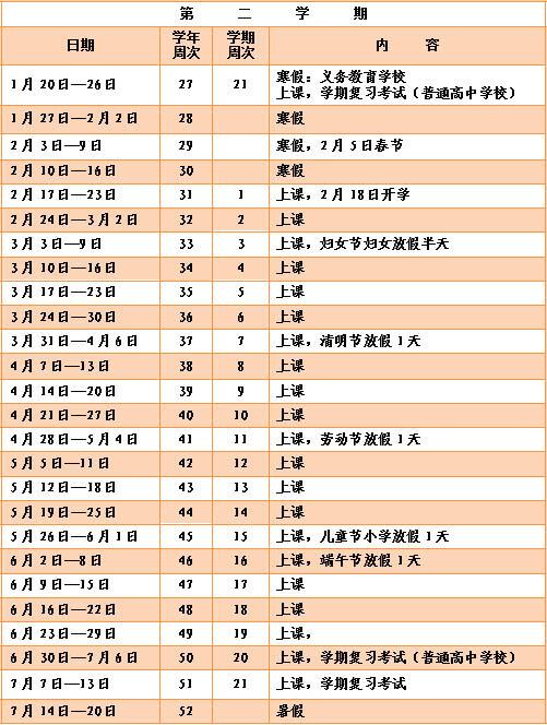 2019年深圳所有白菜免费彩金网址寒假放假安排时间表